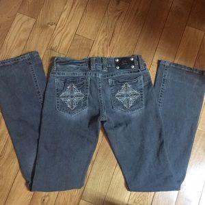 Miss Me gray boot cut jeans